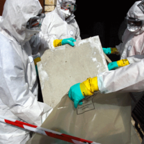 Remove materials containing some asbestos