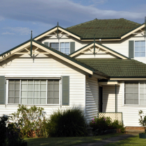 Suburban Weatherboard Home - The ground floor is constructed of weatherboard of Asbestos Containing Material with the first floor extension made of non-asbestos materials. Asbestos is also found in internal walls, under flooring, fuse box etc.