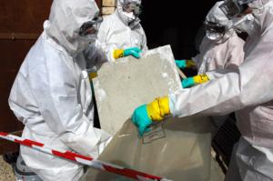 Remove materials containing some asbestos