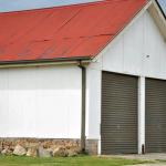 Fibro garage / shed.
