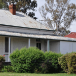 Colonial House with fibro addition - asbestos may be found under eaves, in bathrooms, laundries, kitchens and under flooring (carpet underlay, vinyl tiles or sheeting, wall and floor tiles) and electrical power boxes etc.