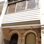 Victorian Terrace - asbestos can be found in extensions, closing in balconies (pictured), under eaves, in bathrooms, laundries, kitchens and under flooring (carpet underlay, vinyl tiles or sheeting, wall and floor tiles), roofing and electrical power boxes etc.